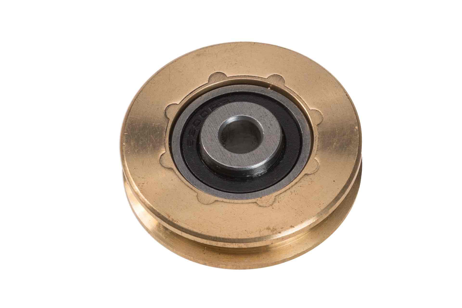 Kabelschijf 52mm gelagerd messing M8-gat