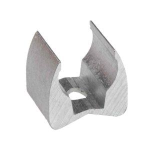 Zadelklem 19mm aluminium